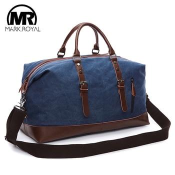 Sacs de toile polochon pour hommes MARKROYAL sacs de voyage de nuit bagages de grande capacité sac sauvage sacs à main de loisirs sacs à bandoulière à l'épreuve des coupures
