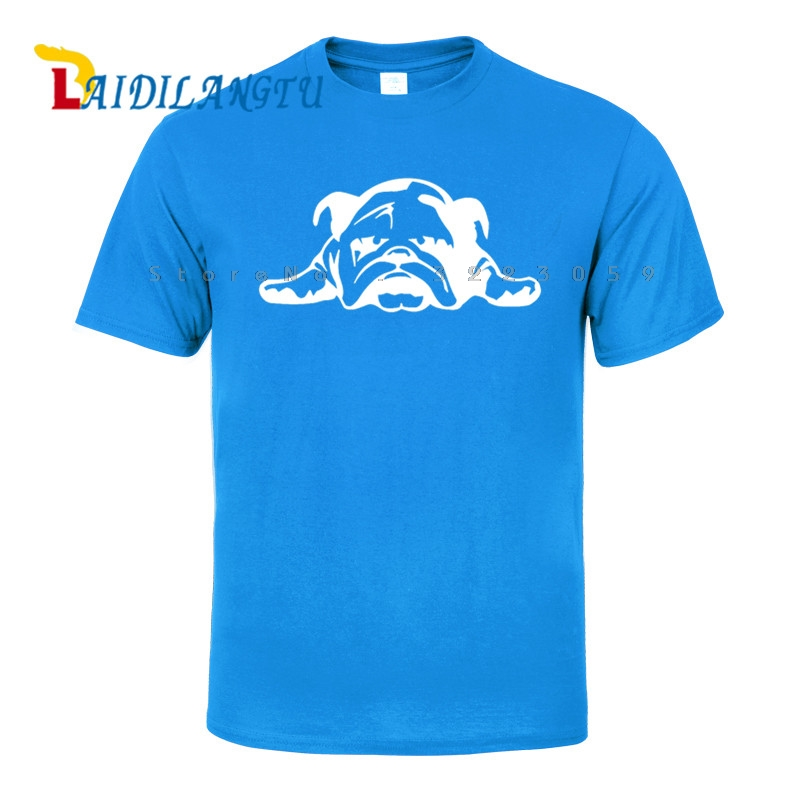 Buy now lovely ENGLISH BULLDOG TIRED PUPPY DOG funny tee cute cotton cool tshirt lovely summer costume