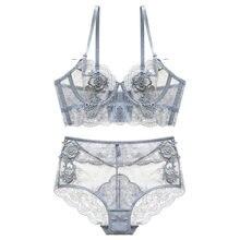 Nuevo reunir ajustado Copa fina Lencería Bra conjunto ropa interior  transparente tentación Sexy Bra Conjunto para las mujeres de. 49b0e8a62ad9