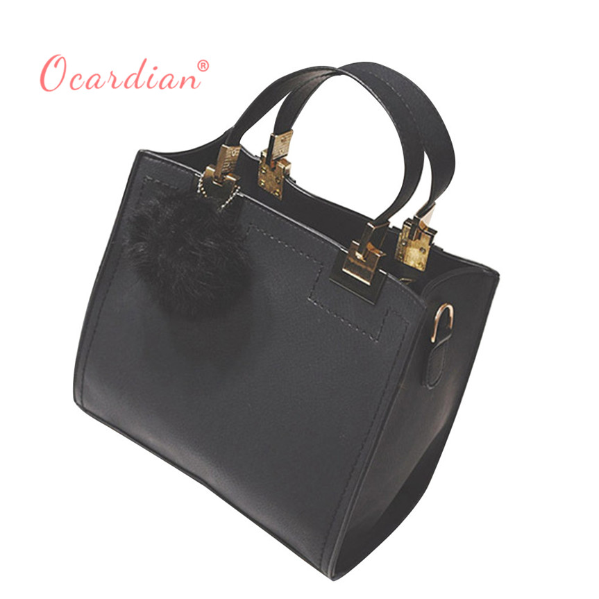 OCARDIAN bolsos mujer Hair ball packs frosted handbag shoulder bag simple small square bag Casual #30 2017 sale Gift