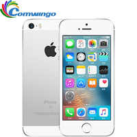 Original desbloqueado Apple iphone SE LTE teléfono móvil 2GB de RAM 16/64GB ROM Dual-core IOS A9 4,0 Touch ID 4G LTE móvil teléfono iphone se