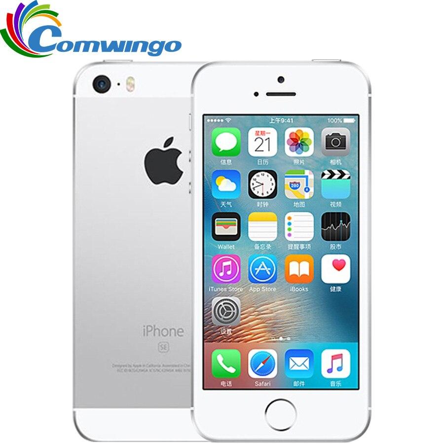 Original desbloqueado apple iphone se lte telefone celular 2 gb ram 16/64 gb rom duplo-núcleo ios a9 4.0