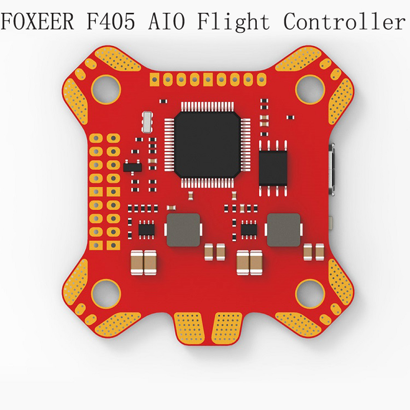 1pcs FOXEER F405 AIO Flight Controller with Betaflight OSD F4 Flight Control Board for RC Racing FPV Drone Four-axis Aircraft emax f4 magnum tower parts f4 flight controller 6 in 1 betaflight osd mini main board for rc racing drone quadcopter