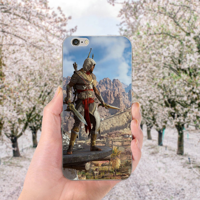 Soft TPU Silicone Cell Phone Cases for iphone X Case Back Cover for iphone 6S 7 8 Plus 4 4S 5 5S SE Bags Assassins Creed Odyssey 2