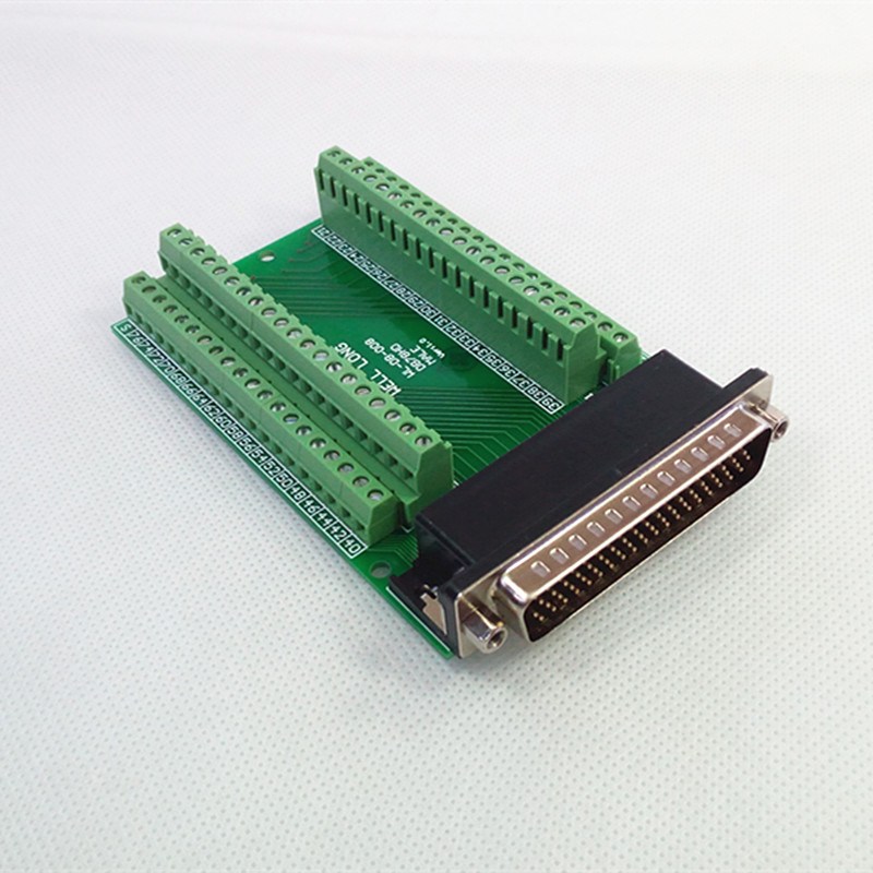 DB78 Male Breakout Board, D'SUB Header Breakout Board, Terminal Block DSUB Module. din rail mount d sub db78hd female interface module breakout board dsub db78