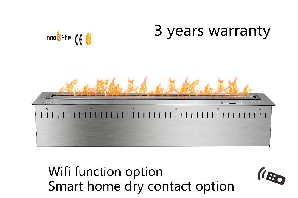 36 Inch  Silver Or Black Smart Remote Control Intelligent Bioethanol Burner
