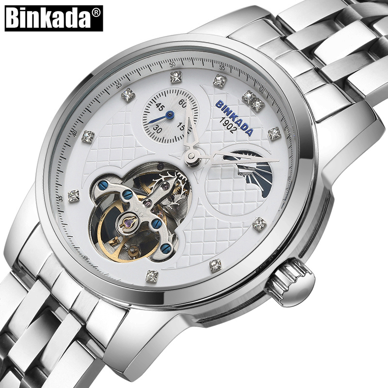 Luxury Brand BINKADA Fashion Male Business Automatic Mechanical Watches Men's Sports Casual Wrist Watch relogio masculino