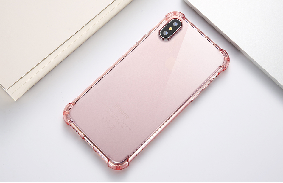 Anti-knock Clear Silicon Shockproof Cover with TPU iPhone Case 14