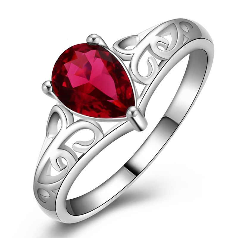 2018 Новая мода Настоящее посеребренное кольцо кристалл простое для элегантных