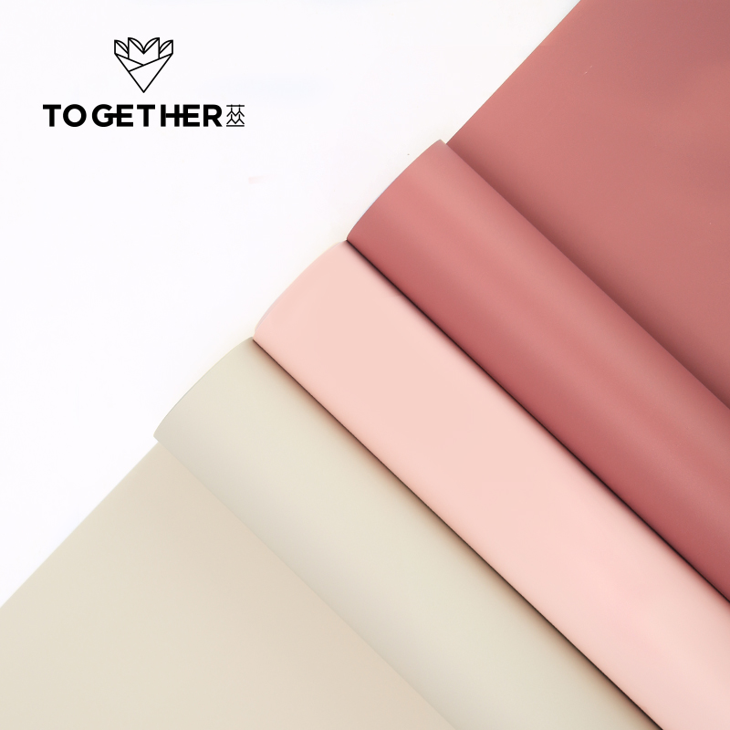 58 cm X 15 yards Matin brouillard lumière douce monochrome bobine mat mat fleur de papier emballage papier d'emballage étanche matériel