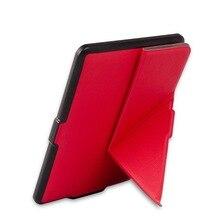 Origami delgado caso de la cubierta elegante de LA PU cubierta del soporte de cuero para Amazon Kindle Paperwhite 1 2/paperwhite3 (Nuevo modelo) + free stylus + film