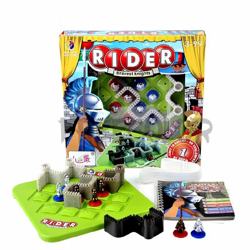 Enfants jouets Smart famille jeux de société 60 défi et Solution IQ Puzzle logique jeu de pensée Jouet Enfant Intelligent
