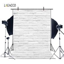 Laeacco Photophone Voor Voedsel Witte Bakstenen Muur Vintage Baby Portret Fotografie Achtergronden Foto Achtergronden Verjaardag Photocall