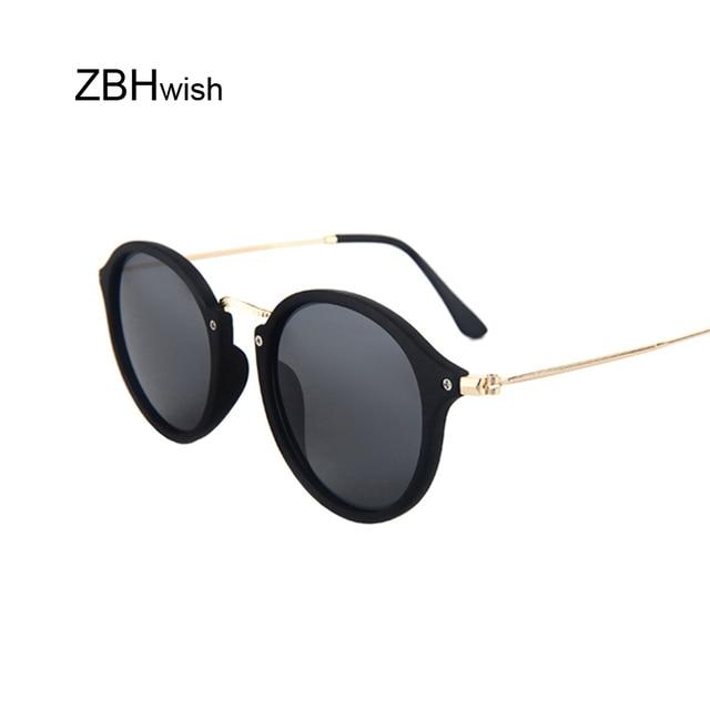 84e8c0273fd91 Luxo Espelho Redondo Óculos De Sol Das Mulheres Marca Designer Retro Óculos  de Sol Para As
