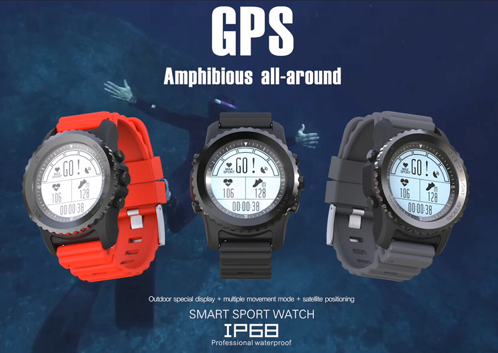 2018 New Design S968 Men's Bluetooth Smart Watch Support GPS,Air Pressure,Call,Heart Rate,Sport Watch fitness tracker wireless service call bell system popular in restaurant ce passed 433 92mhz full equipment watch pager 1 watch 7 call button