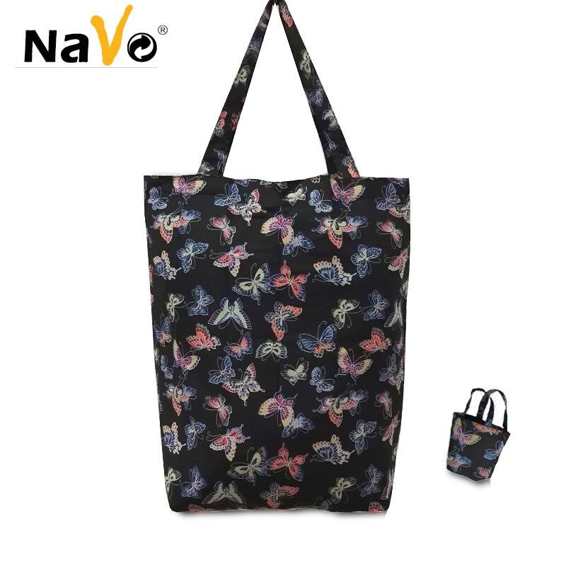 US $4.74 5% OFF NAVO hohe qualität wiederverwendbare einkaufstasche tasche shopper einkaufstasche faltbare wiederverwendbare eco taschen in