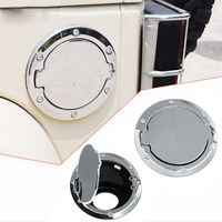 Tank Cover For Jeep Wrangler 2007 2016 ABS Aluminum Chrome Stainless Gas Fuel Filler Cap Door