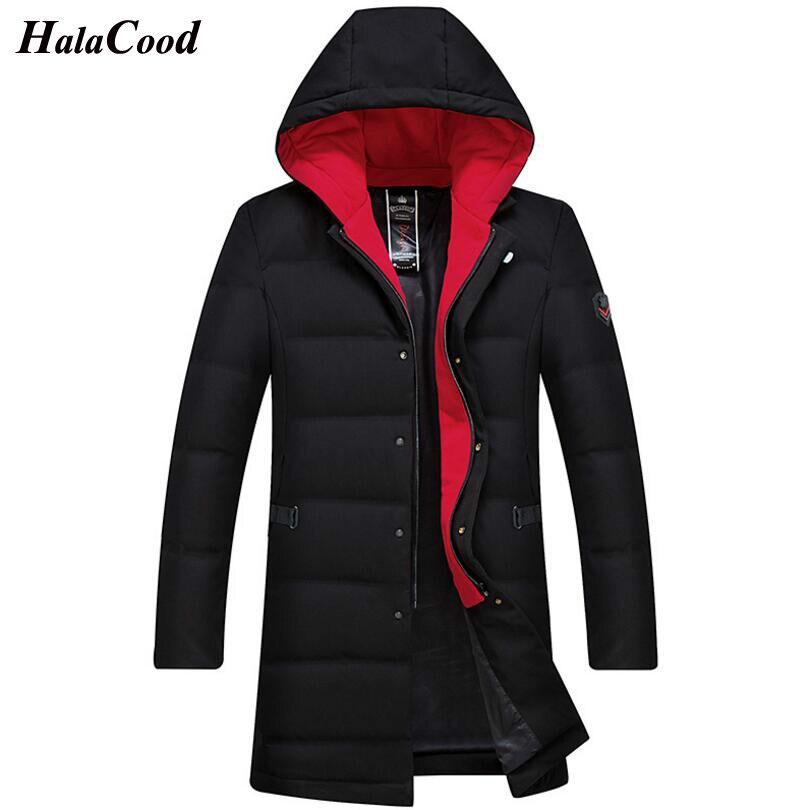 HALACOOD 2018 New Fashion Autumn Winter Warm Duck   Down   Jacket Men Jackets   Coat   Hooded Long Male   Down     Coat   Korean Casual Outwear