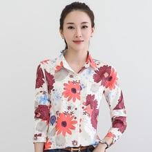 Dioufond Women Long Sleeve Blouse Floral Turn-down Collar Bolsa Feminina Poskets Women Shirt Fashion Tops For Girls Clothing