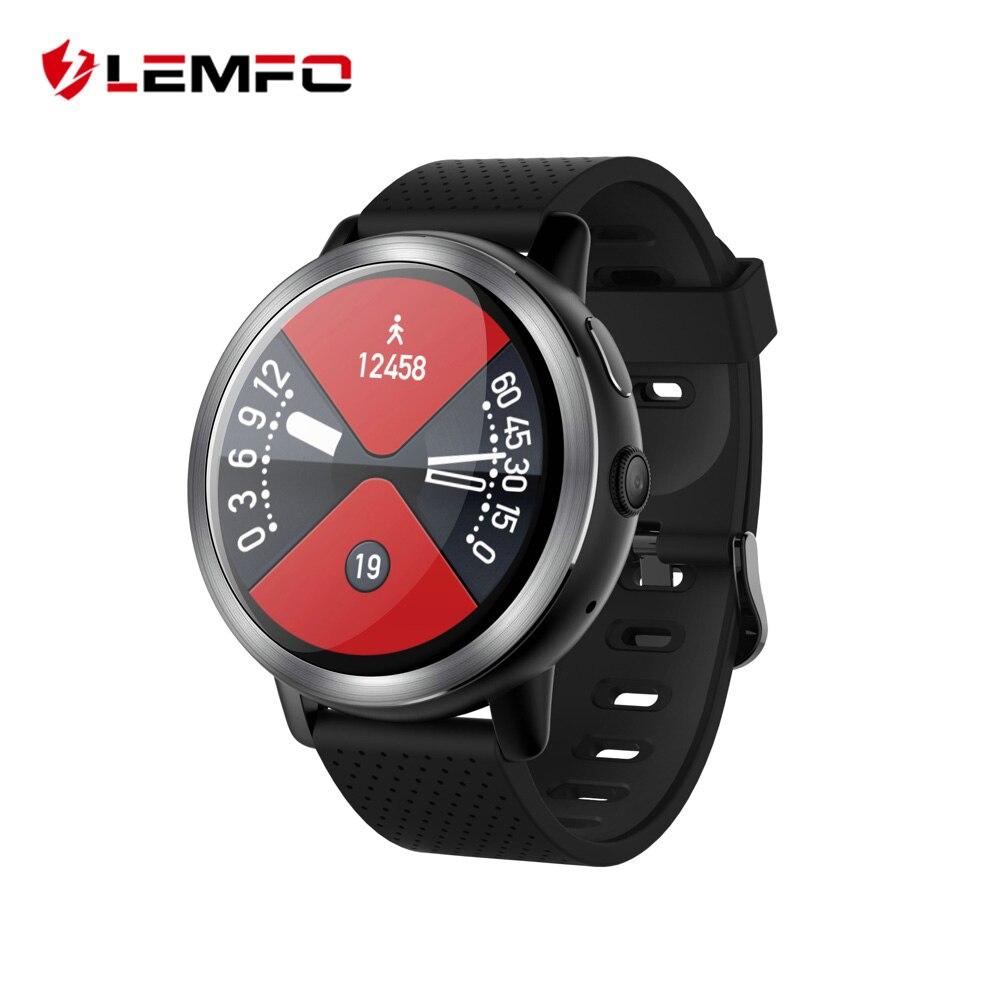 LEMFO LEM8 4G Astuto Della Vigilanza del Android 7.1.1 2 GB + 16 GB Con Il GPS 2MP Fotocamera Da 1.39 Pollici AMOLED schermo 580 Mah Batteria Smartwatch Uomini