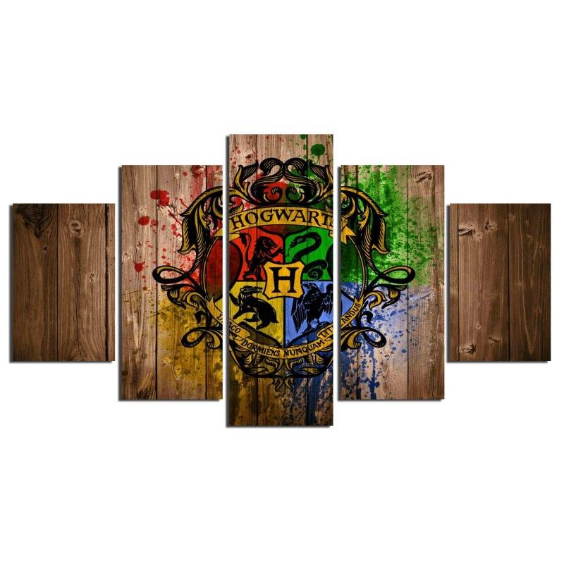 5 Teile/satz Gerahmte HD Gedruckt Hogwarts Magic School Bild ...