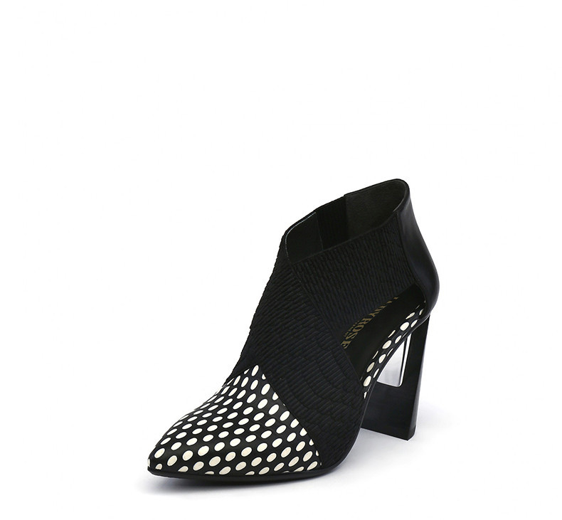 Negro Verano Cm Punta Mujeres Dots black Zapatos Gladiador 8 Cuero Sandalias Botines Jadyrose Mujer Moda Toe With De Tacones Tobillo Genuino Altos U0cF1Fq