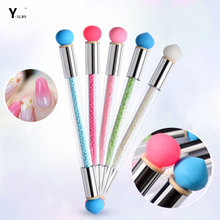 Y-XLWN Cross border special for the new nail art tools for smudge pen tips and silicone tips Nail brush