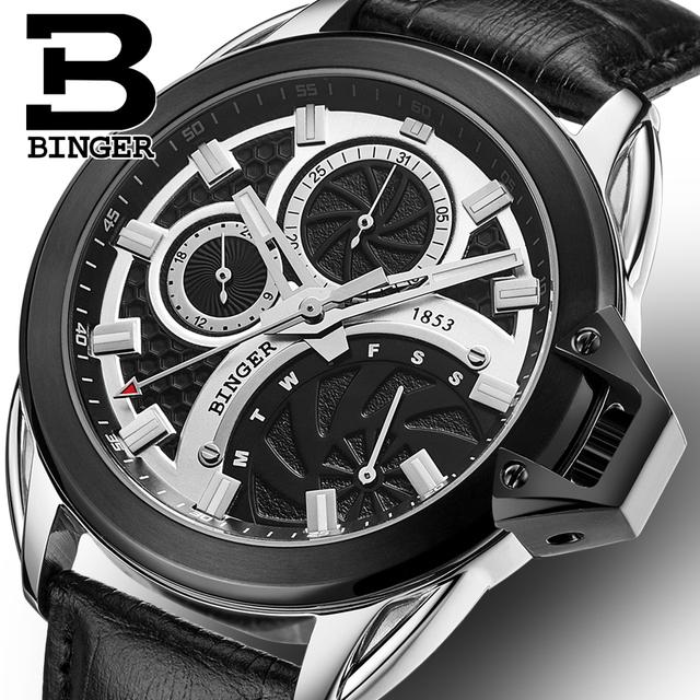 Mens Watches Top Brand Luxury Sports Watches Men BINGER Fashion Clock Dress Men's Quartz Watch Male Hours 2017 Erkek Kol Saati