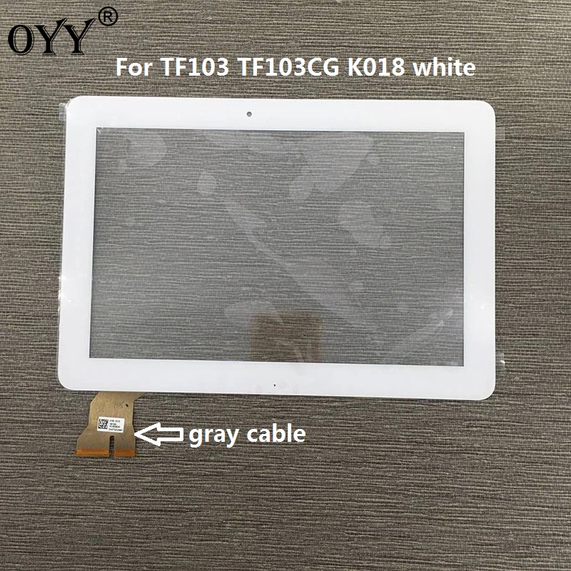 цена на Touch Screen Digitizer Glass Panel Replacement Parts For ASUS Transformer Pad TF103 TF103CG K018 white