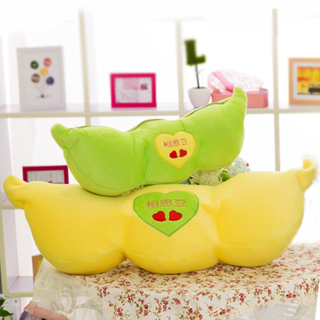 Cute pea pods pillow dolls, plush toys nap pillow cushions abrin, boys and girls Valentine's Day gift