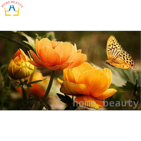 Full Drill Square Diamond Mosaic Paint Painting Embroidery With Diamonds Home Decor Needlework Craft Flowers Butterfly