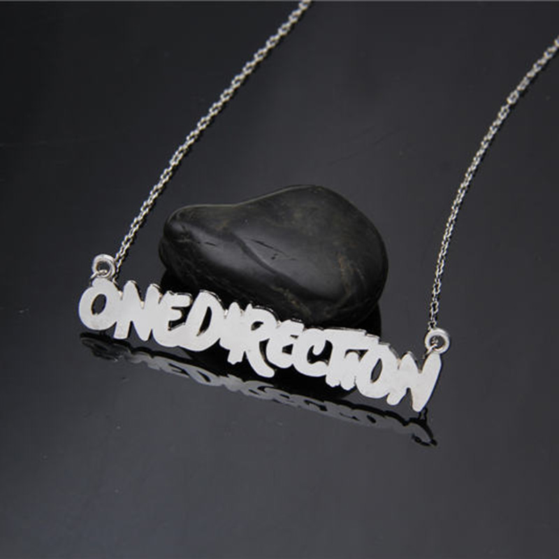 Hot new fashion designer silver plated one direction pendant necklace 1D choker necklaces & pendants men jewelry bijoux collares