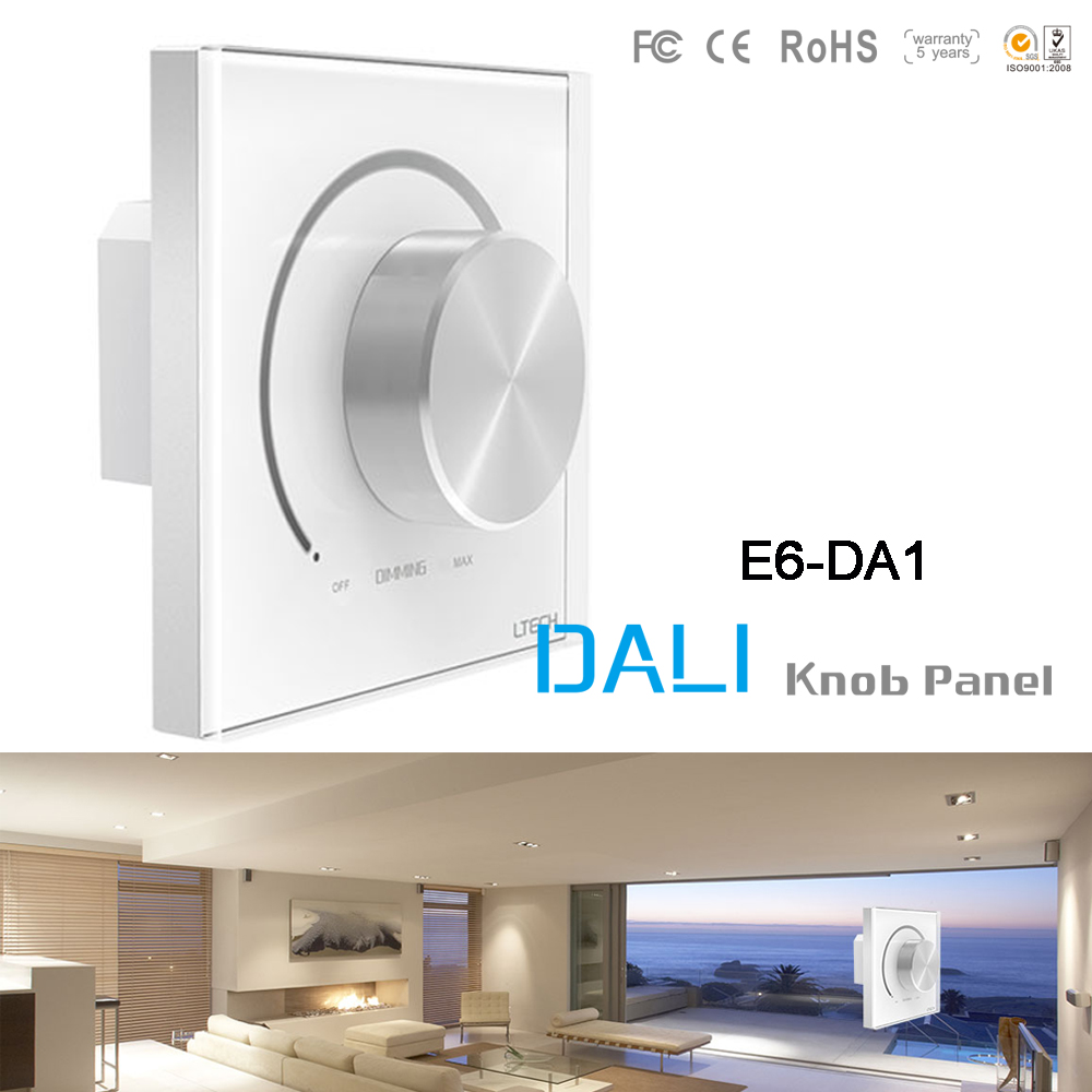 Wall Mount Dali led DALI knob panel Dimmer Dali LED Switch Controller E6-DA1 for led strip COB down light