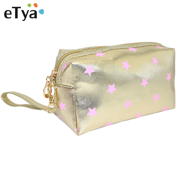 922de76ed20e Aliexpress.com : Buy eTya Striped Printing Cosmetic Bag Women Small Makeup  Bag Portable Travel Zipper Clutch Fashion Organizer Pencil Case Wash Pouch  ...