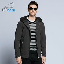 ICEbear 2018 new cusual solid man jacket coat autumn undetachable hat short single breasted men coat BMWF18216D