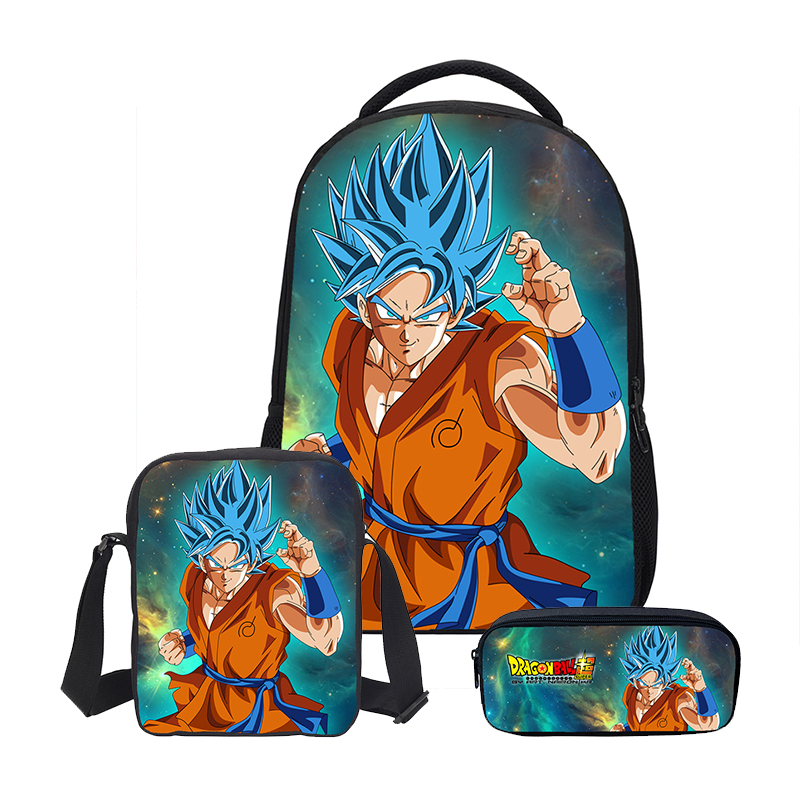 90a3c621f26a VEEVANV DIY Prints Cool Children Bookbag Boys Dragon Ball 3PC Set School  Shoulder Bags with Pencil Case Luxury Student Backpacks