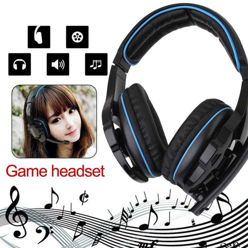 SADES SA-810 Gaming Headset 3.5mm Wired Stereo ear headphone with Microphone for PC Laptop ps4 Xbox  headphones for smart phone rock y10 stereo headphone earphone microphone stereo bass wired headset for music computer game with mic