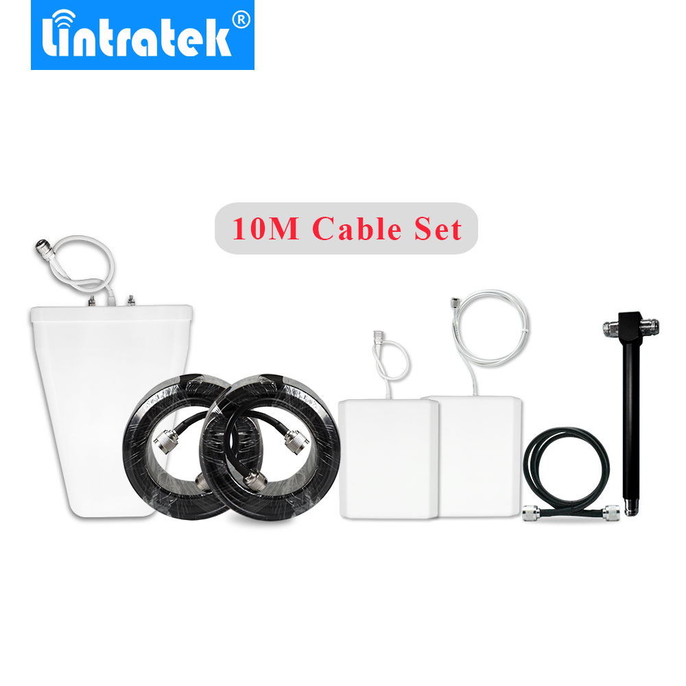 HOT 800-2700MHz Antennas Cables Full Set Accessories For Single/Dual Band Or Tri Band Signal Repeater Booster Big Area Coverage@
