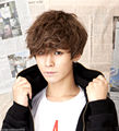 ePacket Free shipping  Hot style Handsome Boys Wig Korean Fashion Short Men Hair Cosplay Wigs