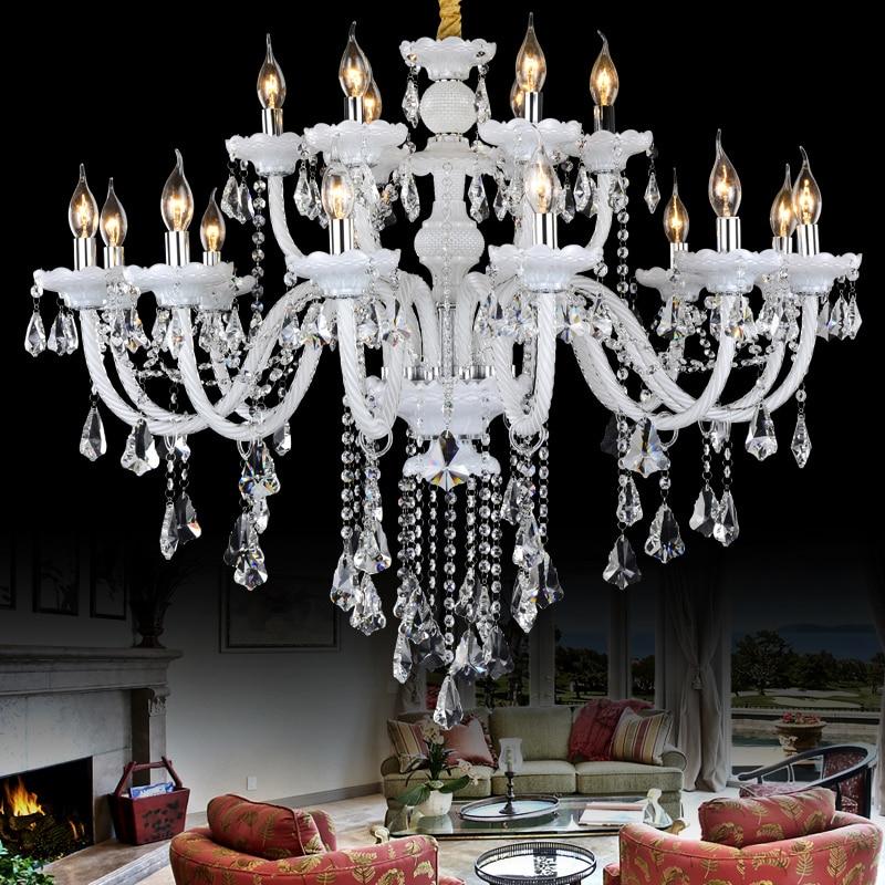 white lights chandeliers bedroom lamp hanging Light Modern crystal chandelier Lights home Crystal lighting Living