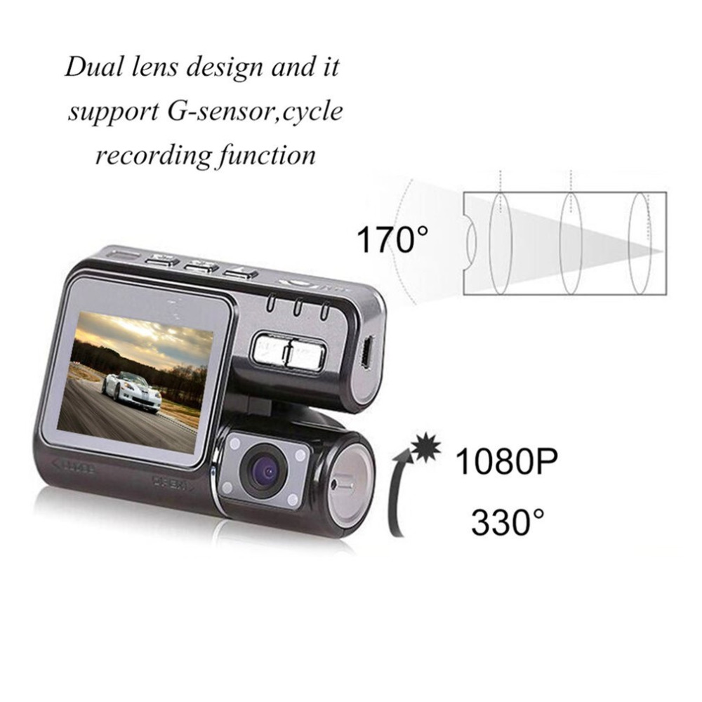 Dual Lens2 Inch LCDAuto Car DVR Camera Full HD 1080PG-Sensor Dash Cam Rearview Camera Video Recorder Night Vision Hot Selling