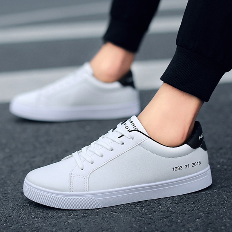 2019 Spring White Shoes Men Casual Shoes