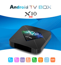 Giá rẻ nhất Android TV Box X10 Android 7.1 Amlogic S905W Quad Core 2 gb/16 gb 2.4 gam WiFi 4 k H.265 UHD HDMI 2.0 Thông Minh Phương Tiện Truyền Thông Máy Nghe Nhạc(China)