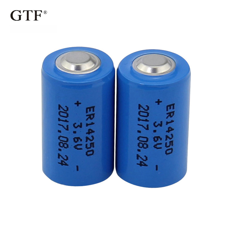 2PCS GTF 1/2 AA er <font><b>14250</b></font> battery 3.6v 1200MAH ER14250 lithium batteries replace for LS14250 primary battery for camera image