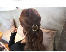 Gold/Silver Plated Metal Triangle Circle Moon Hair Clips