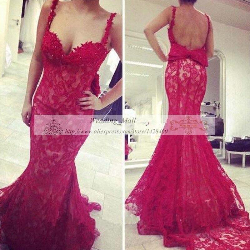 Baratos Niñas Vestidos de Fiesta de Encaje Rojo Vestidos de Baile ...