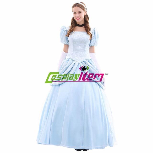 custom made princesa cinderela vestido cosplay dos desenhos animados