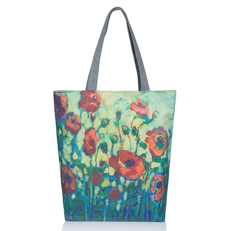 Shoulder Bag Women Canvas Large Luxury Brand Spring Summer Casual Women Bags Flower Big Women Messenger Bag Handbag High Quality
