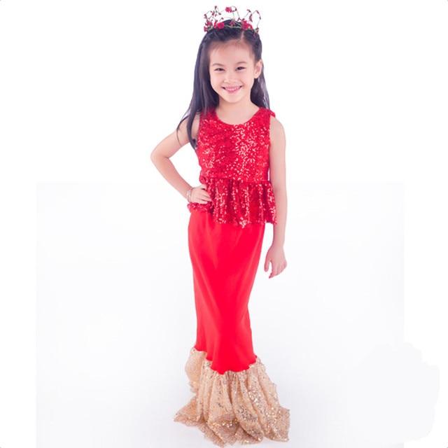 07734103bfee Kids Girls Dresses The Little Mermaid Costume Princess Ariel Party ...