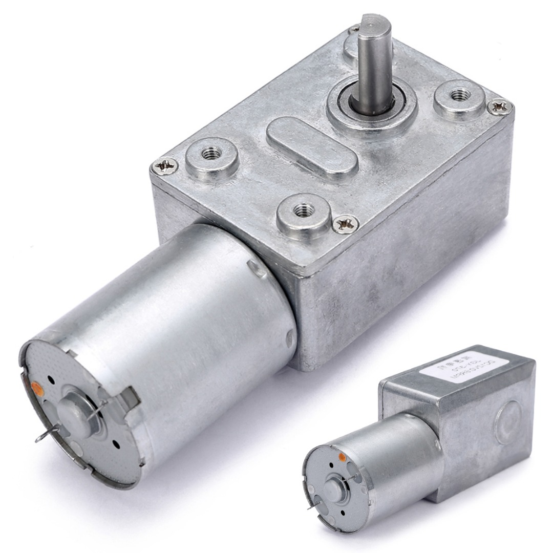 1pc DC 12V Turbo Worm Geared Motor 0.6RPM High Torque Low Speed Electric Motor GW370 стоимость